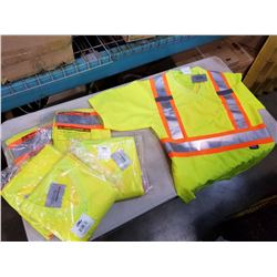 6 NEW CONDOR SAFETY T-SHIRTS SIZE L