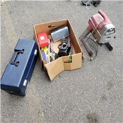 TITAN XT250 PAINT SPRAYER BOX OF TOOLS AND SHARK LASER VAC