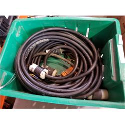 BOX OF ELECTRICAL CORDS