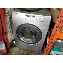 GREY SAMSUNG FRONT LOAD WASHING MACHINE - AS IS