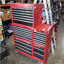 CRAFTSMAN 2 PIECE ROLLING TOOL CHEST FULL OF TOOLS