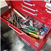 Image 6 : BEACH 2 PIECE ROLLING TOOL CABINET FULL OF TOOLS