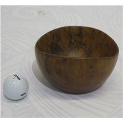 Small Dark Wooden Bowl, Approx. 5  Dia (top), 3.5  Tall