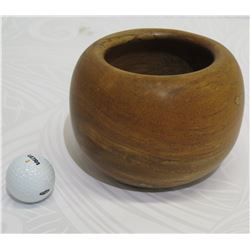 """Small Wooden Bowl, Artist C. Sherry, Approx. 5.5"""" Dia,  4.5"""" Tall"""
