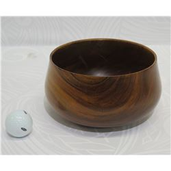 Milo Wood Bowl, Artist Robert W. Butts, Approx. 7.5  Dia, 4  Tall