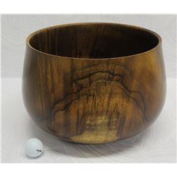 Curly Koa Wood Bowl, Artist Robert W. Butts, Approx. 13  Dia (top), 9.5  Tall