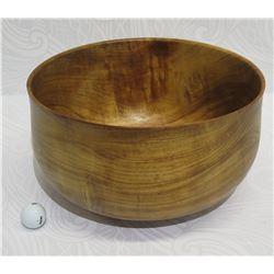 Large Koa Wood Bowl, Approx. 15  Dia, 9  Tall