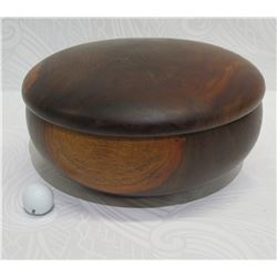 "Large Kolohala ""Hawaiian Pheasantwood"" Bowl with Lid, Approx. 13"" Dia, 6.5"" Tall"