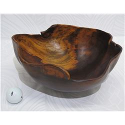 Freeform Wooden Bowl, Approx. 11  Wide  x 5  Tall