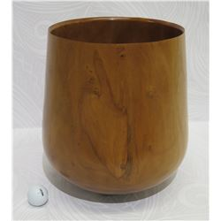"Large Milo Wood Bowl, Artist James W. Lowell Jr. 1/09, Approx. 10.5"" Dia, 14"" Tall"