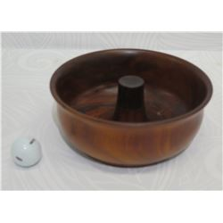 Round Wooden Bowl, Approx. 9  Dia, 4  Tall