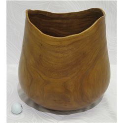 "Milo Wood Bowl, Artist F. Clemente, Approx. 13"" Dia, 15"" Tall, Retail $2500"