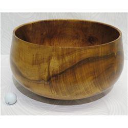 "Large Curly Koa Wood Bowl, Artist Robert W. Butts, Approx. 18"" Dia, 10"" Tall"