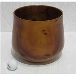 "Koa Wood Bowl, Artist Robert W. Butts, Approx. 9"" Dia, 8"" Tall"