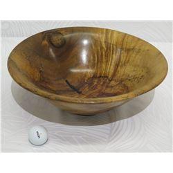 """Flared Koa Wood Bowl, Artist Komo Austin, Approx. 14.5"""" Rim Dia, 5"""" Tall"""