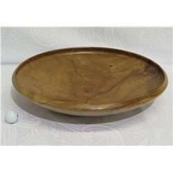 Milo Wood Platter, Flared w/ Concave Lip Detail, Artist Robert W. Butts, Approx. 21  Dia, 5  Tall