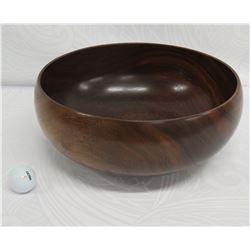 """Koa Wood Bowl w/ Patch Detail, Artist Scott Sullivan, Approx. 13"""" Dia x 6"""" Tall"""