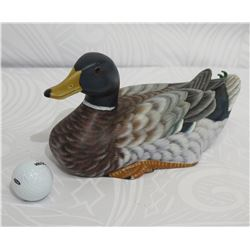 "Carved Painted Wooden Mallard, Approx. 13"" L, 6"" Tall"