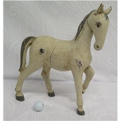 "White Painted Horse, Composite Material, Approx. 20"" L, 6"" Tall"
