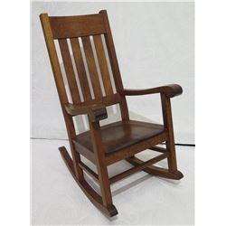 "Koa Rocking Chair, Martin & MacArthur 2010, Artist-Signed, Approx. 24""W, 18"" seat depth, 44"" back he"