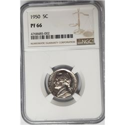 1950 5C Jefferson Nickel NGC PF66 Proof