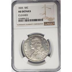 1835 Capped Bust Half Dollar 50C NGC AU Details