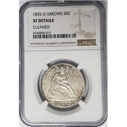 1855-O Arrows  Seated Liberty Half Dollar NGC XF