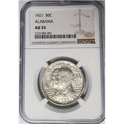 1921 Alabama Half Dollar Commem NGC AU55
