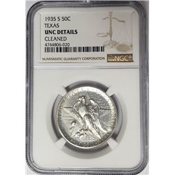 1935-S 50C Texas Commemorative Half Dollar