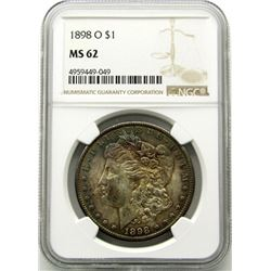 1898-O Morgan Silver Dollar $ NGC MS 62