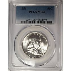 1956 50C Franklin Half Dollar PCGS MS64