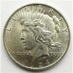 1924 PEACE DOLLAR BU