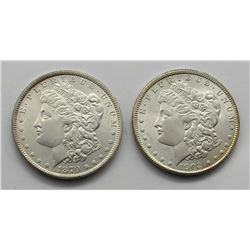 1879 & 1902-O MORGAN DOLLARS BU