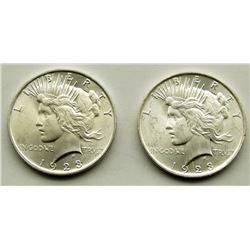 2-1923 PEACE DOLLARS