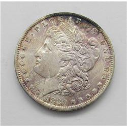 1880-O MORGAN DOLLAR TONED OBV UNC