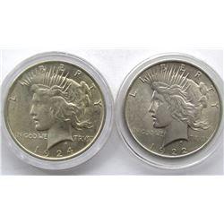 1922 & 1924 PEACE DOLLARS