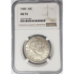 1900-P Barber Half Dollar 50C NGC AU55
