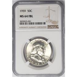 1959-P Franklin Half Dollar 50C NGC MS64 FBL