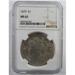 1879-P Morgan Silver Dollar $ NGC MS 62