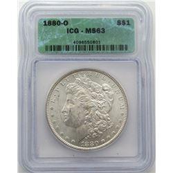 1880-O Morgan Silver Dollar ICG MS 63