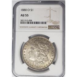 1888-O Morgan Silver Dollar $1 NGC AU55
