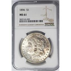 1896-P Morgan Silver Dollar $1 NGC MS61