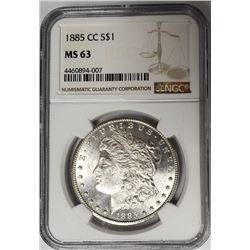 1885 CC Carson City Morgan Dollar NGC MS63