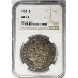 1903-P Morgan Silver Dollar $1 NGC AU53