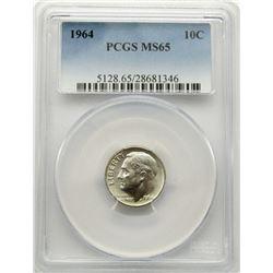 1964 PCGS DIME MS65