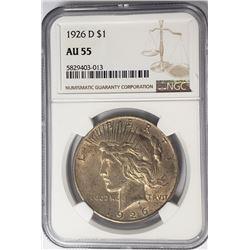 1926-D Peace Dollar $1 NGC AU55