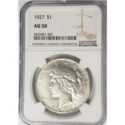 1927-P Peace Dollar $1 NGC AU50