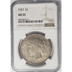 1927-P Peace Dollar $1 NGC AU53