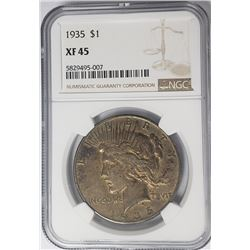 1935-P Peace Dollar $1 NGC XF45
