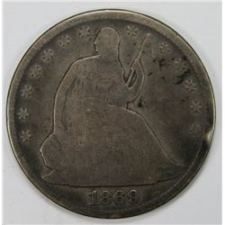 1869 SEATED HALF DOLLAR